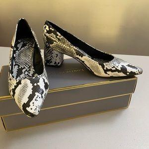 Zara Trafaluc - block high heel snake 2 inches
